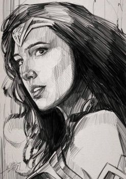 wonder woman sketch by wallacedestiny