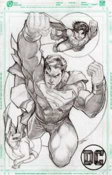 Superman, Superboy, and Krypto by Dingodile24
