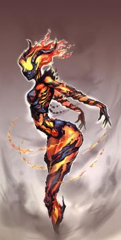 Flame Atronach by AllyEdFrown