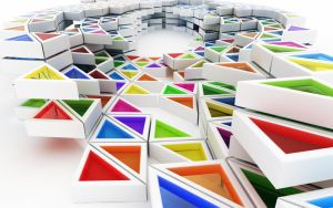 Colorful triangles by k3-studio