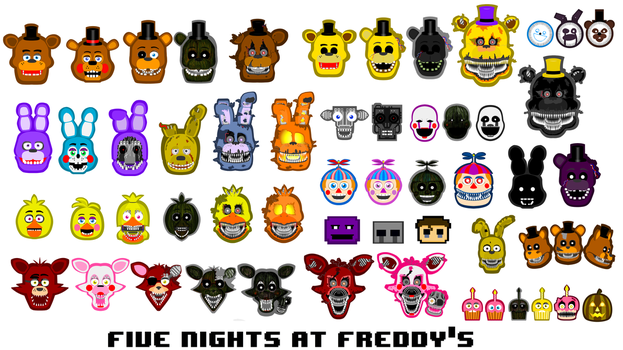 FNAF All Characters by hookls