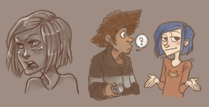 Coraline doodles by SnuffyMcSnuff