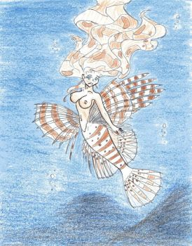 Mermaids - Lionfish - Colored by Azuril-Noir-Raine