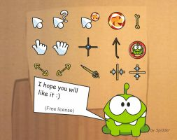 Cut the Rope Cursors, ver.1 by iSpidder