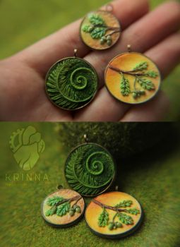 New miniature pendants by Krinna