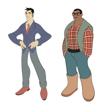 Dads Character Design Sheet by drekkydrimm