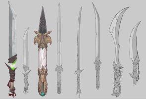 Concept Swords by Coffeeater