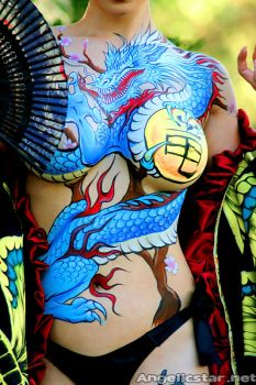 Yakuza bodypaint - closeup by yayacosplay