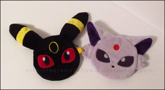Zipper Pouch: Umbreon and Espeon by Serenity-Sama