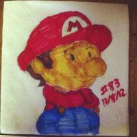 Napkin Art #83 - It's-a me, Baby Mario - Nintendo by PeterParkerPA
