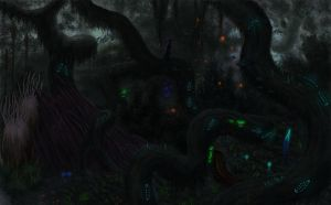 Postcards from the Infected Forest by Ramul