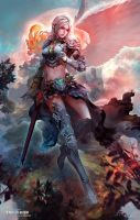 White Elf Knight(full version) by antilous