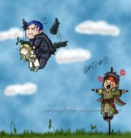 Darn those crows. by NarcolepticPenguin