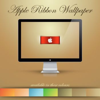 Apple Ribbon Wallpaper by NKspace