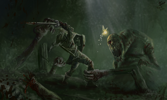 Link vs Dead Hand by KlausBoss