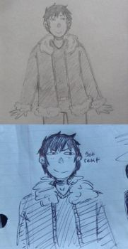Izaya scribbles by Knockoutdaleks