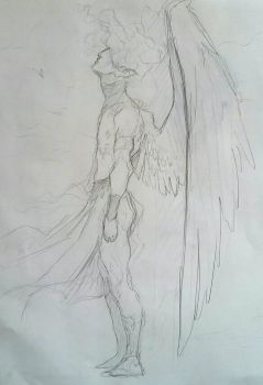 angel sketch by Eostet