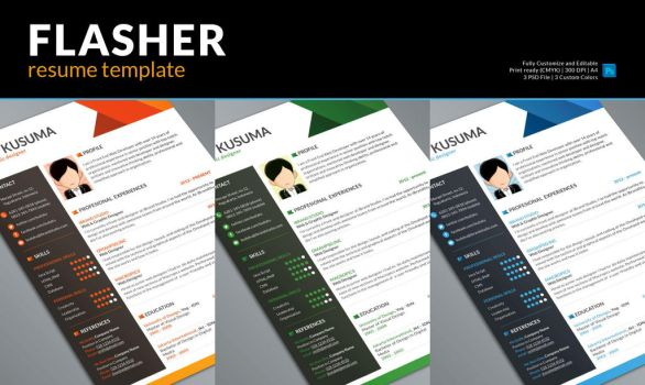 Flasher Free Resume Template by yahya12