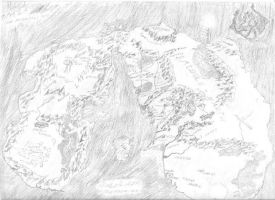 north west middle earth map pencil version by niwreg159 on