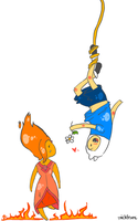 Hey Flame Princess by michfranc
