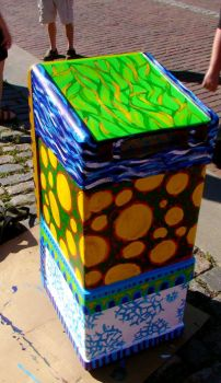 Box Painting - Angled View by golddew