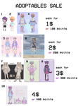 Adoptables Sale [OPEN] by octopws