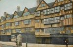 Vintage UK - Old Houses in Holborn, London by Yesterdays-Paper