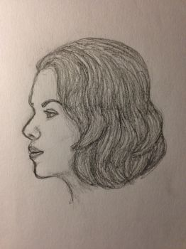 Black Widow: Profile Sketch by eK-designs