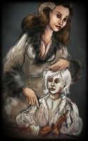 Little Brynden and his mum. by kethryn