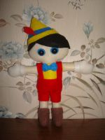 Pinocchio plush by NiGHTSfanKevin