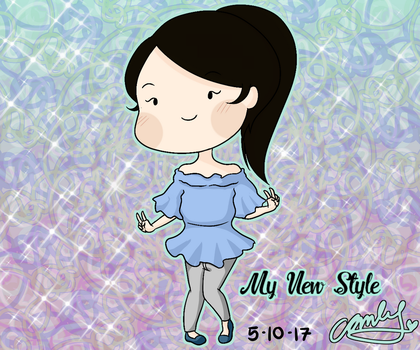 My New Art Style! by rosethorncams14