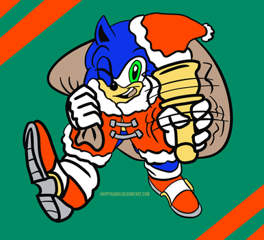 Sonic the Hedgehog - Festively Fast by HappyAggro