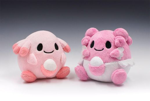 Chansey and Blissey Pokedolls by caffwin