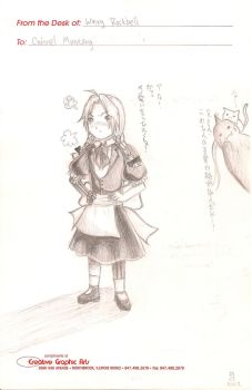 Edward Elric in a Dress by HUKUforALL