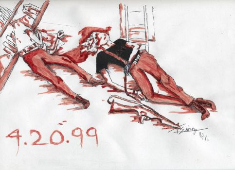 Columbine BloodPainting by LittleSkrillexKid