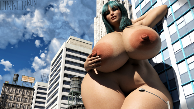 Giantess Rae by Dinner-Kun