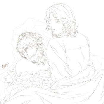 One incomplete wedding and some funerals (Lineart) by RizafromKeron