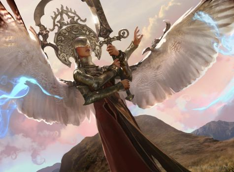 Magic The Gathering: Exquisite Archangel by Cryptcrawler