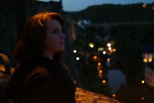 Me in Luxembourg at night by MoonChildMaddi