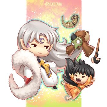 Sesshomaru and Companion by Norm27