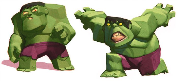 Disney Infinity Hulk (early concepts) by Artsammich