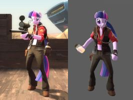 Twilight Sparkle Sniper Mod for download by Kassgrein