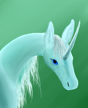 Green Unicorn speedpaint by cryingcrimson-dragon
