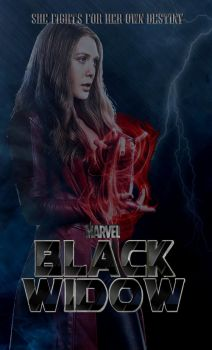 Black Widow Movie Poster (Scarlet Witch) by Art-Master-1983