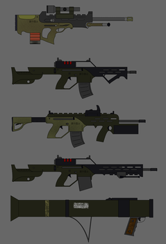 ENPF infantry armament by Pachumaster
