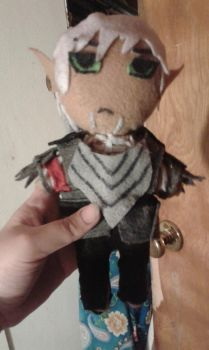Fenris plushie by therabidhybrid507