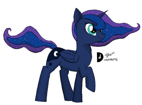 Luna Walking by SenatorDigitDaemon