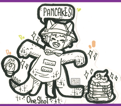 [Traditional] [NIKO LOVES PANCAKES!] by CrafterCloud45