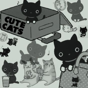 Brushes - Cute Cats by MauserGirl
