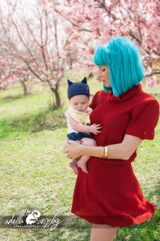 Cosplay: Baby Trunks and Bulma Cosplay by Adella
